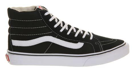 high top vans sneakers vans slim high tops in black lyst