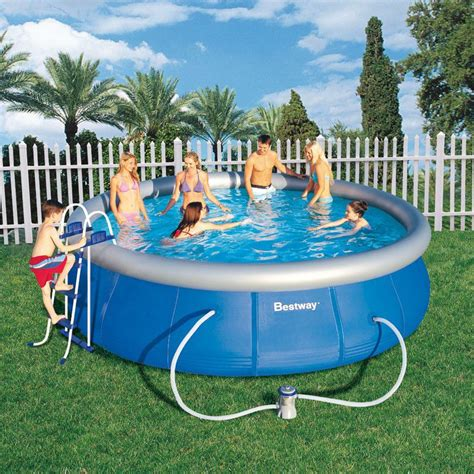 best way piscine piscine ronde fast set pool bestway piscine autoportante