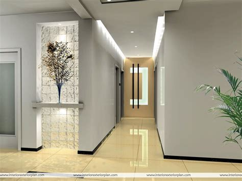 interior exterior plan corridor type house interior design