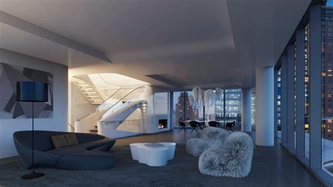 room pent zaha hadid designed penthouse along the high line lists at 50 million