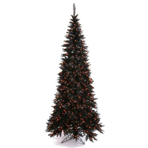 vickerman 30260 7 5 x 40 quot black slim fir 500 orange