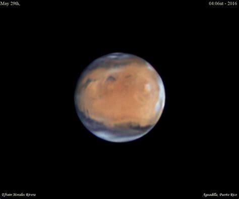 la oposicin de marte del 22 de mayo de 2016 astronoma imagen de marte tomada desde puerto rico el universo hoy