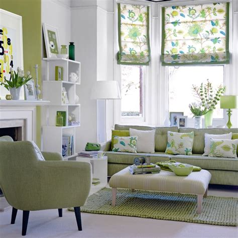 white and green living room there s no place like home