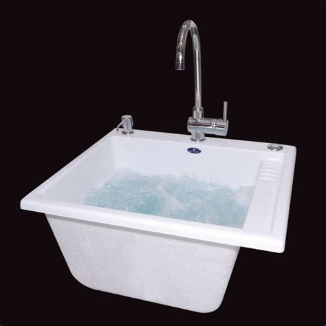 Bath Tubs And Showers neptune eco acrylic laundry sink 20 4 quot l x 23 9 quot w x 12 2