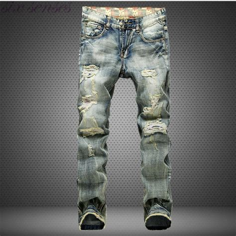 Sale Branded Hotpants Ripped Murah On The Rock big size 42 european style brand holes frazzle mens casual leisure denim