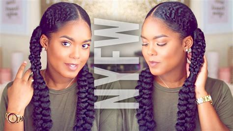 whats the trend for hair natural hair fashion week inspired braided hairstyle