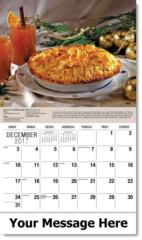 Promo Calendars Food Promotional Calendar Recipe Calendar Food