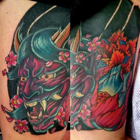 hannya mask tattoo cover up hannya tattoo by jesse neumann tattoonow