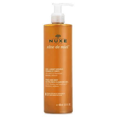 nuxe reve de miel anti aging set cleansing gel skin r 234 ve de miel 174 shower wash nuxe