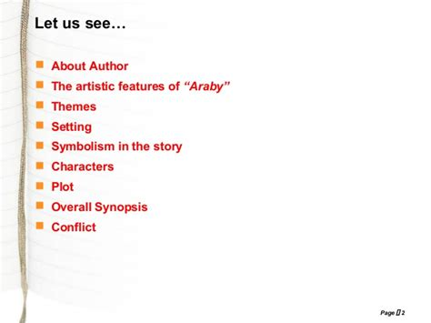 themes of the story araby araby by james joyce prepared by kaushal desai