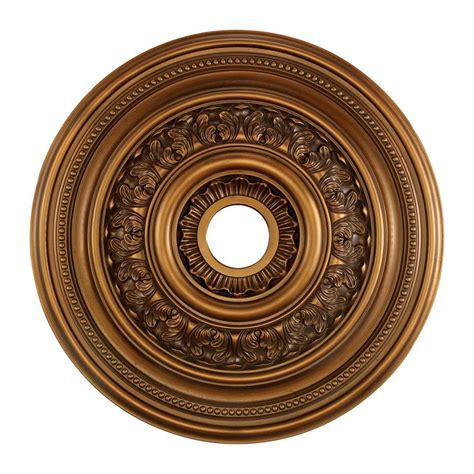 Light Medallion by Titan Lighting Study 24 In Antique Bronze Ceiling