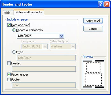 microsoft powerpoint tutorial notes add a header and footer to notes pages notes 171 slides