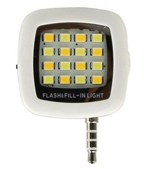 Lu Led Flash Light Mobil Generic Mobile Selfie Led Flash Light White Price In India