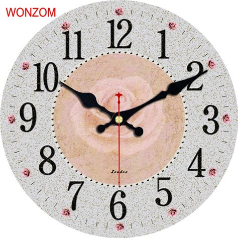 concise style silent wall clock simple home and office decorative wonzom concise flower design large wall clock silent