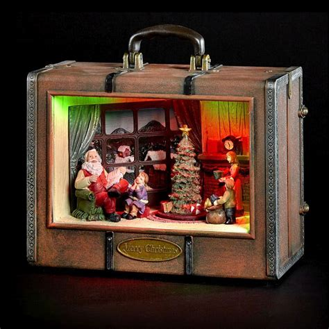 lighting stores santa santa inside suitcase display with led lighting buy