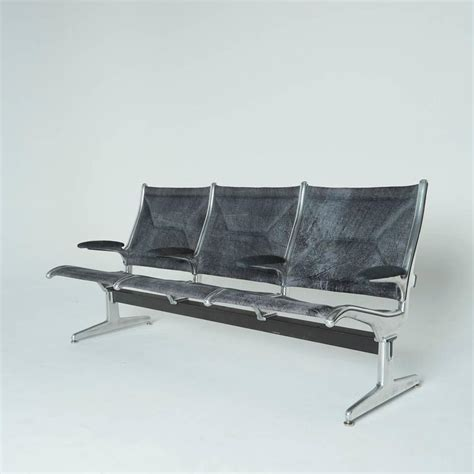 eames bench three seat tandem sling bench by eames for herman miller