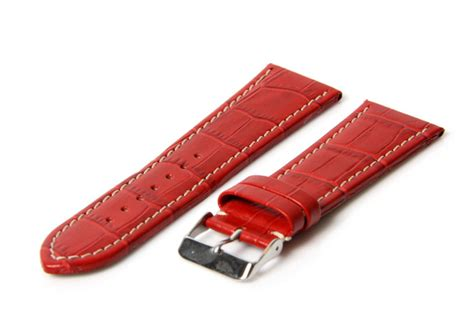 Reyl Acoustic 03 Safety Leather watchband 32mm leather crocoprint