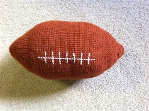 Crochet Football Pillow Pattern by Football Pillow Crocheted Products I Free Crochet Patterns