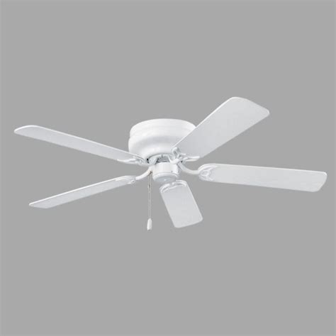 white hugger ceiling fan nutone hugger series 52 in indoor white ceiling fan