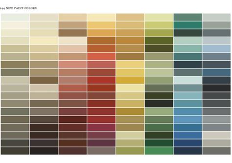 benjamin color chart benjamin paint color chart farrow colors