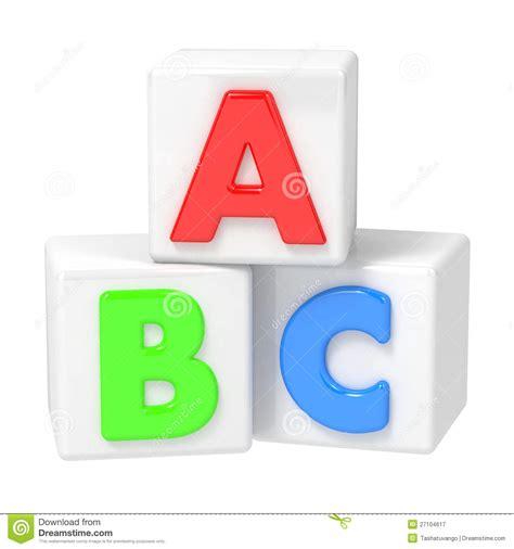 abc building blocks  white background stock image