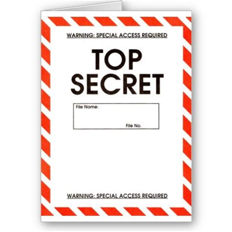 Secret Card Template by Tops On