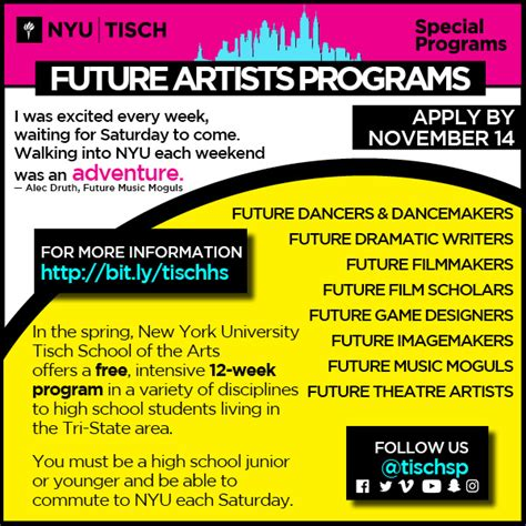 tisch future artists young performers check out the future artists programs at