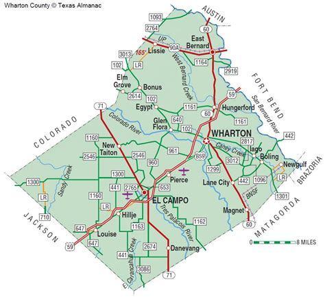 map of wharton texas wharton county the handbook of texas texas state historical association tsha