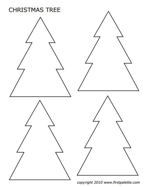 printable christmas tree a3 a4 christmas tree template to print templates data