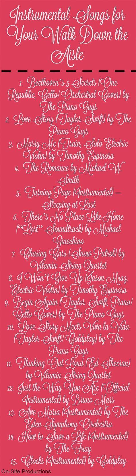 On Site Wedding Receptions   15 Beautiful Instrumental