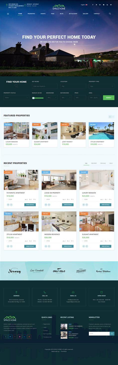 theme wordpress interstellar space home premium responsive real estate wordpress
