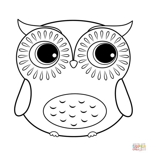 Cartoon Owl Coloring Page Free Printable Coloring Pages Printable Coloring Pages Of Owls