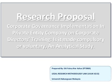 Mba Research Topics On Corporate Governance by Research On Corporate Governance