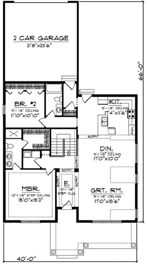 Craftsman With Rear Load Garage 89716ah 1st Floor Bungalow House Plans With Garage In Back