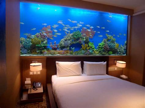 bed aquarium headboard aquarium bed