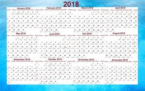 Calendar 2018 Pdf For India 2018 Pocket Calendar