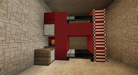 Minecraft Bunk Beds Modern House Bunk Beds With Desk Minecraft Project