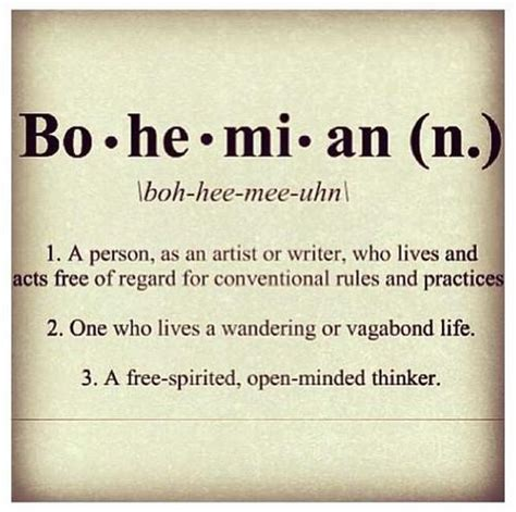 The Meaning Of Chic by Bohemian Quotes Quotesgram