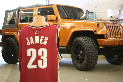 lebron jeep lebron wrangler to be auctioned jk forum