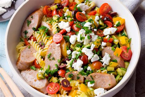 recipes for pasta salad cold pasta salad with sausage