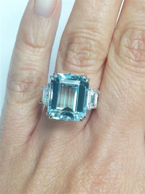 european engagement ring 7 30 ctw large emerald cut