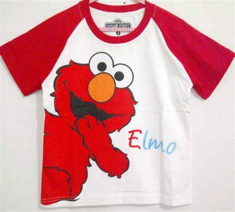 Baju Anak Karakter Elmo Merah Size 1 6 baju anak elmo raglan 1t 6t merah putih murah grosir eceran baju anak murah berkualitas