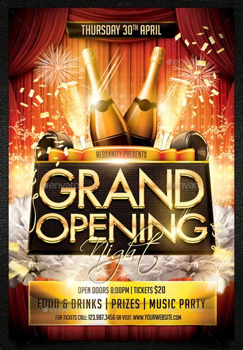 grand opening flyer templates   documents  vector eps psd sample templates