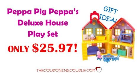 peppa pig deluxe house peppa pig peppas deluxe house play set only 25 97