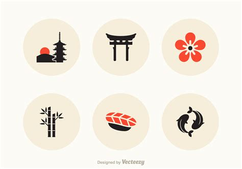 japan vector icons   vector art stock