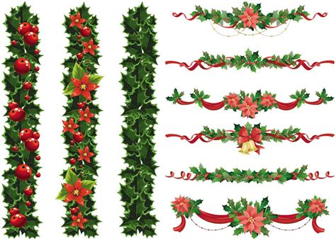 unique christmas garland vector images