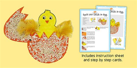 easter card templates twinkl split pin in egg craft craft
