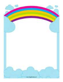 this border includes a rainbow reaching across the sky free to download and print there are