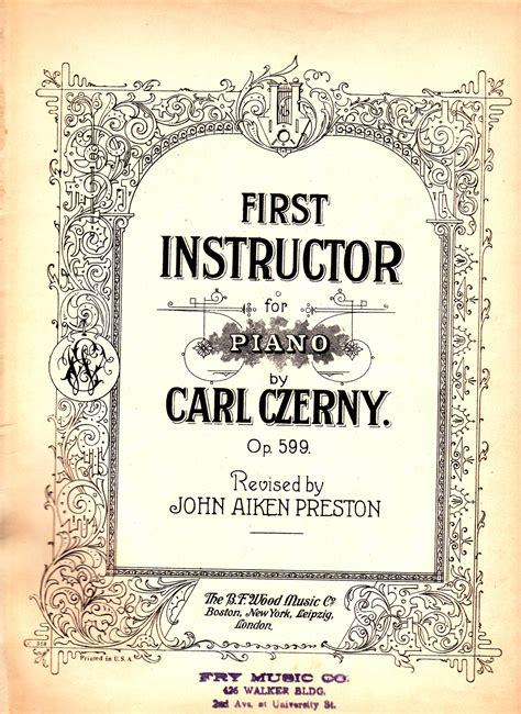 Buku Piano Czerny Op 599 instructor for piano by carl czerny op 599 other