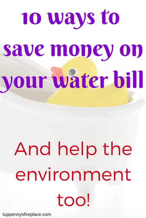 Ways To Save Your Pennies by 10 Ways To Save Money On Your Water Bill